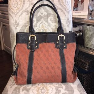 Dooney and Bourke large canvas tote.
